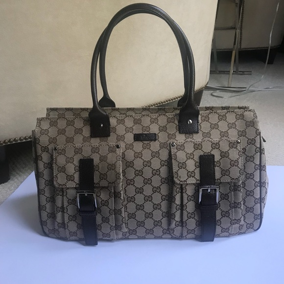 Gucci Bags   Classic Monogram Tote Bag   Poshmark 162f8c9c394